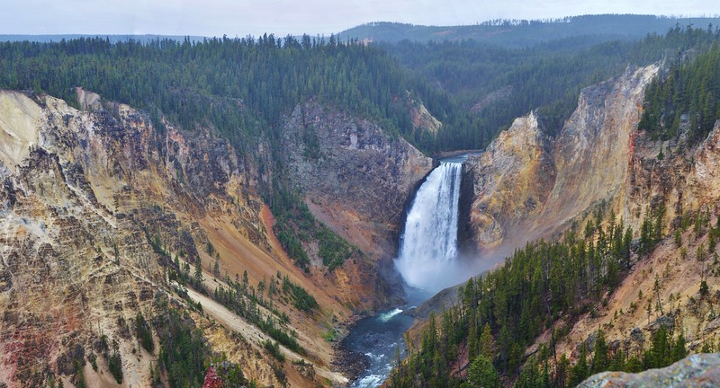 #Pano Lower Falls of the Yellowstone