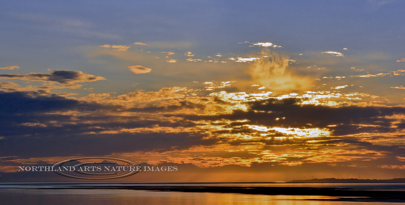 Fire in the Sky 2014.8.18#132. View over Cook Inlet near Anchorage Alaska.