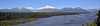 Denali. View from South viewpoint, Chulitna, Alaska. #828.017. 1x4 ratio format.
