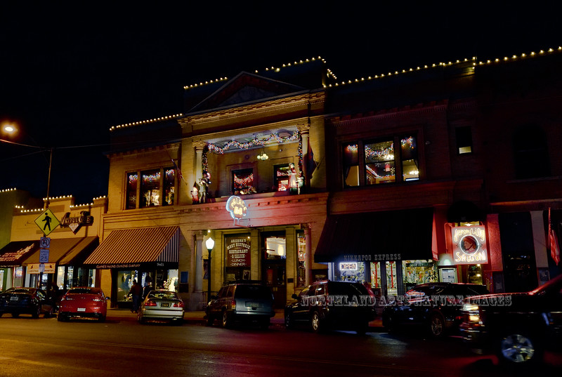 "AZ-2017.12.23#126. The Palace Hotel on ""Whiskey Row"" across from Courthouse Square,  Prescott Arizona."