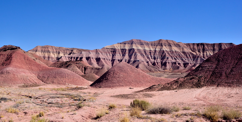 AZ-Painted Desert teepee formation, North East Arizona. #105.014.