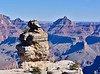 2020.1.14#6994. A view of Duck on a Rock with the Vishnu Temple in the background. Grand Canyon Park, Arizona.