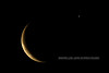 Moon and Venus, Anchorage, Alaska. #127.1087. 2x3 ratio format.