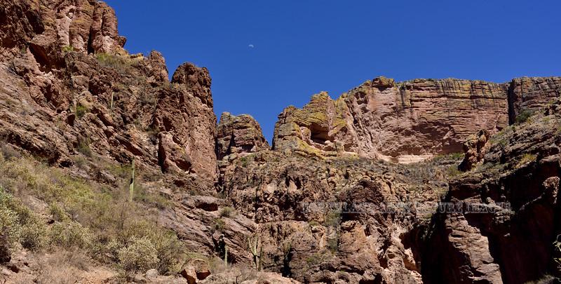 Scene along Apache Trail 2018.6.19#160. Near Fish Creek Canyon. Maricopa County Arizona.