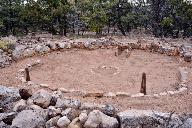 AZ-GCNP-Tusayan ruins 2017.11.29#244. The Kiva. Grand Canyon Nat. Park, Arizona.