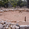 AZ-GCNP-Tusayan ruins 2017.11.29#244. The Kiva. Grand Canyon Nat. Park, Arizona. Occupied 1185 A.D. for about 20 years.