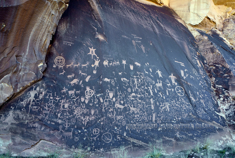 "Rock Art-UT, Petroglyphs. One of the famed ""Newspaper Rocks"". Utah. #108.477."