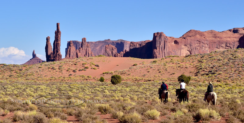 AZ-MVNP2017.10.5#075. The Totem Pole  and Yei Bi Chei formations in Monument Valley Park. Arizona/Utah.