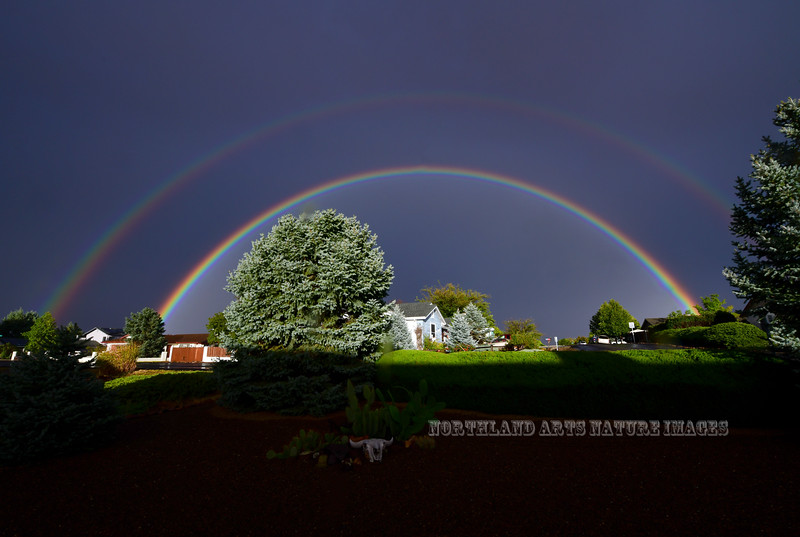 Double Rainbow 2018.10.13#001. Prescott Valley Arizona.