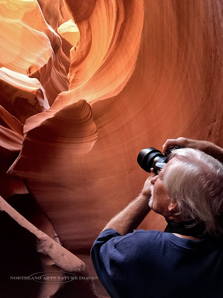 Capturing images in Lower Antelope Canyon 2018.10.25#212. Page Arizona. iphone image by M.Lou Boughton.