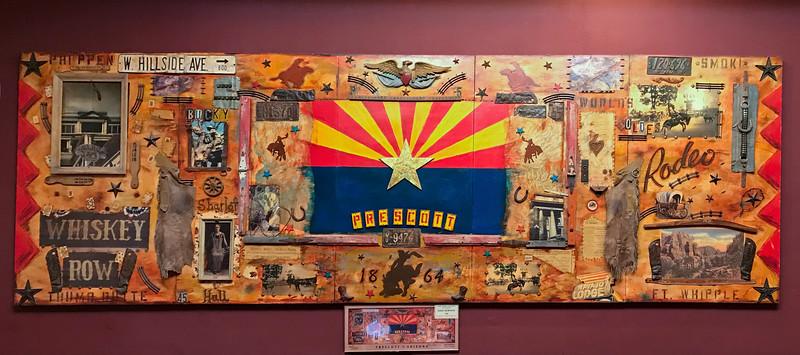 A Commemorative wall in the Palace Hotel. 2020.2.15#5565.3. Prescott Arizona.