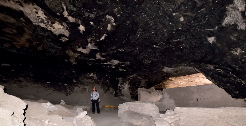 NM-GCD6-2019.11.9#3989. Gila Cliff Dwellings. One of the larger alcove/cave rooms. Gila Wilderness, New Mexico.