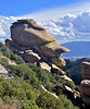 A Hoodoo on Mount Lemmon called Duckbill 2019.11.6#3347. Hoodoo area on Mount Lemmon Arizona.