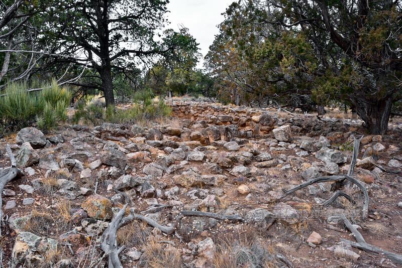 AZ-GCNP, Tusayan ruins, living rooms. Grand Canyon, Arizona. #1129.247.