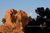 AZ-Super Moon setting. Dells, Prescott, Arizona. #124.028.