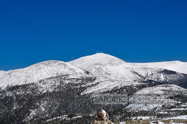 Mounts Eisenhower and Washington viewed from Mount Pierce.