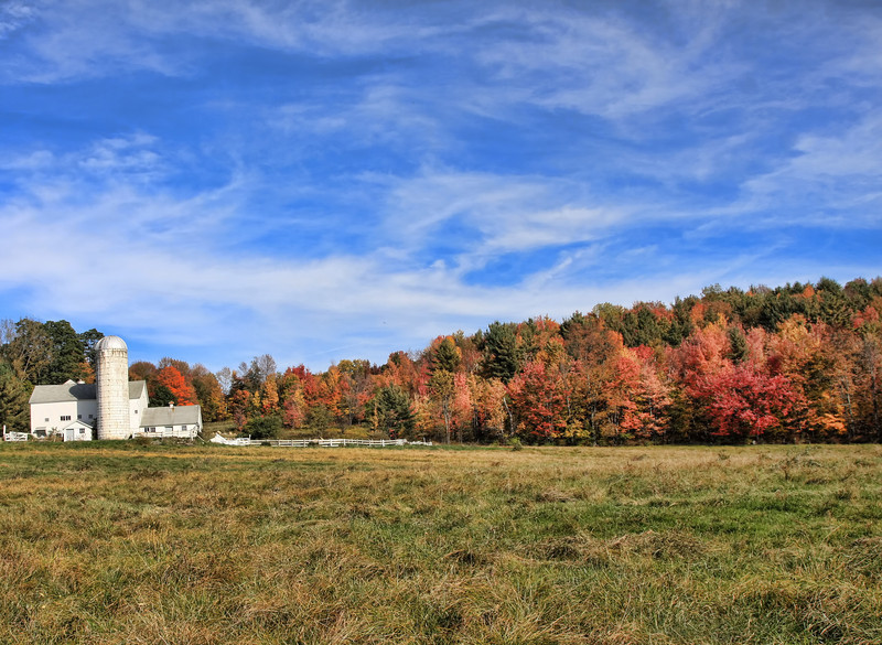 Vermont Barn In October