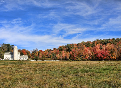 Vermont Barn In October