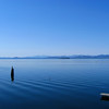 Lake Champlain , Adirondack Mountains on NY side