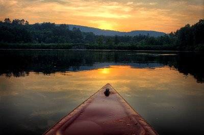 A paddle on the Connecticut River in Hanover, NH, on a July evening.