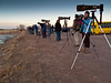 Photographers Lineup<br /> Bosque del Apache NWR, New Mexico