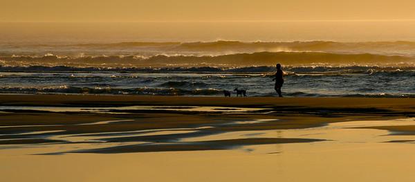 Sunset on Long Beach, Washington