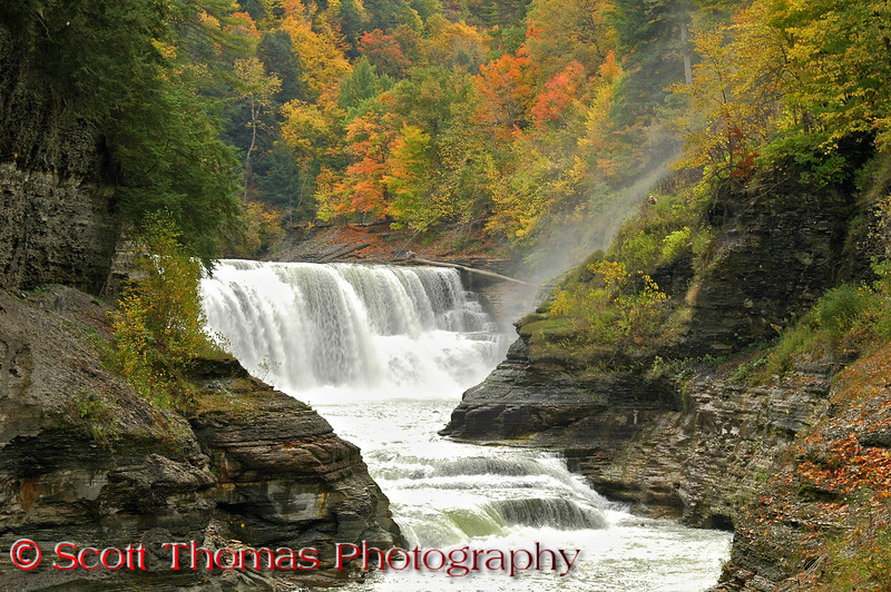 Lower Falls in Letchworth State Park.