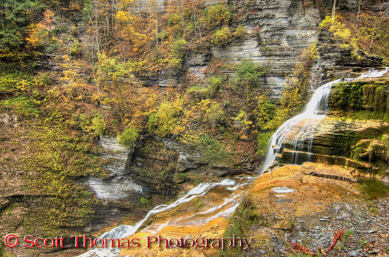 Lucifer Falls from the Sourth Rim Trail Overlook in the Robert H. Treman State Park, Ithaca, New York.