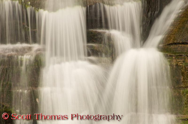 Waterfall closeup in the Robert H. Treman State Park.