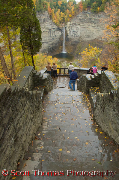 The Falls Overlook at the Taughannock Falls State Park near Ithaca, New York.