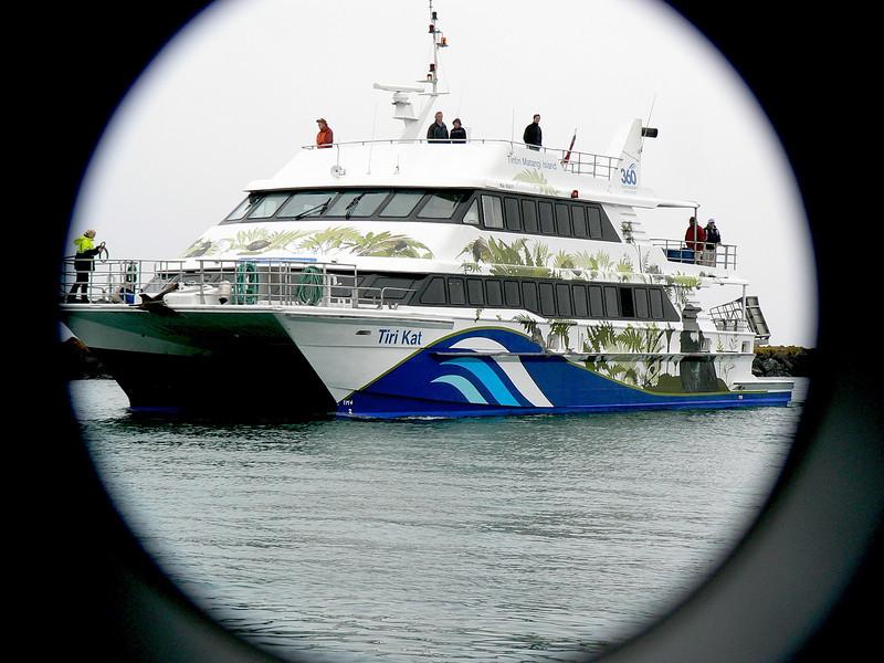 5FerryToTiritiriMatangi761 November 22, 2009 8:41 a.m. P1050761 Our ferry to Tiritiri Matangi island preserve
