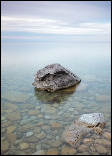 <h3>Cape Chin. Bruce Peninsula Ont.</h3> <h5>Canon 40D, Sigma 10-20 at 20mm,<br> Lee 0.3 hard grad, Hoya NDX4 & Singh-Ray LBW polarizer 20.0s @ f/14.0.</h5>