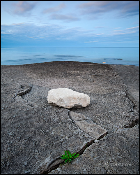 <h3>Dyers Bay. Bruce Peninsula Ont.</h3> <h5>Canon 40D, Sigma 10-20 at 12mm,<br> Lee 0.6 hard grad, Hoya NDX4 15.0s @ f/8.0.</h5>