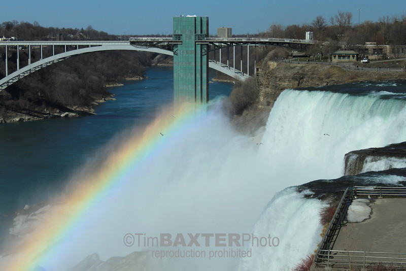Niagara (American) Falls from Goat Island.