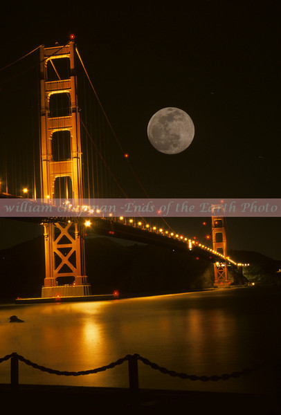 Full Moon over Golden Gate Bridge- San Francisco