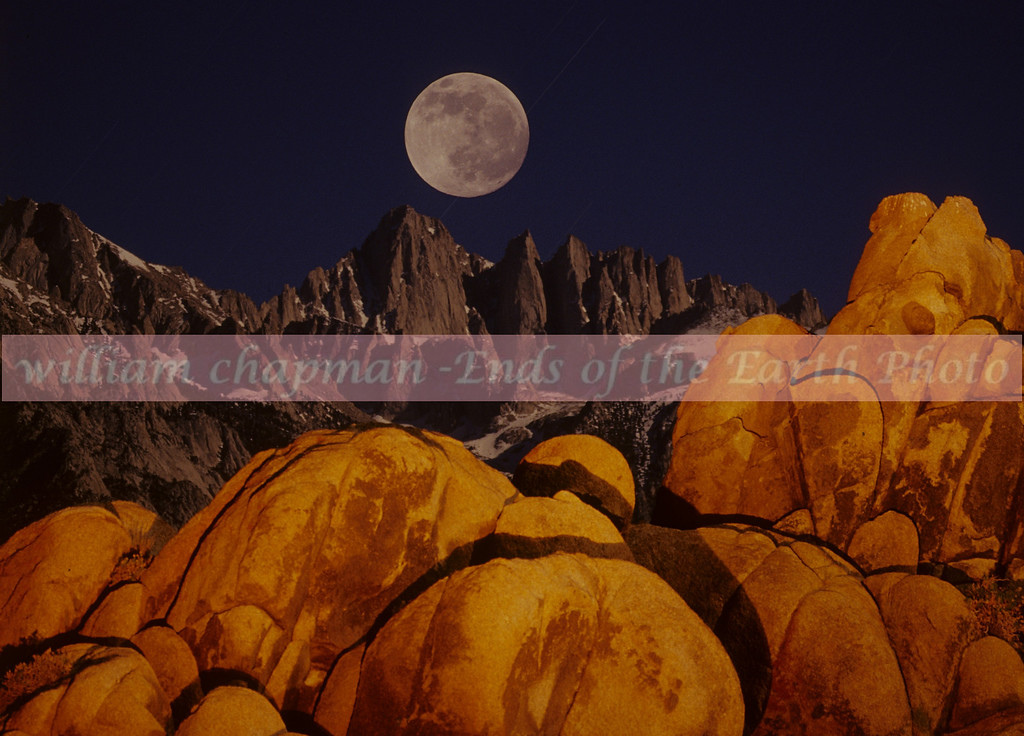 Alabama Hills and Mt. Whitney by Moonlight