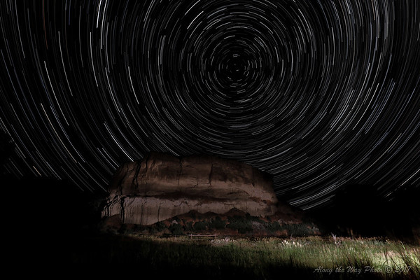Pompeys Pillar Star Trail-2