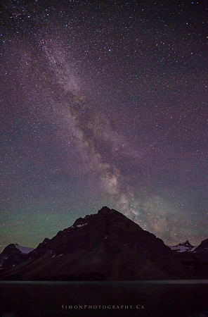 Milky way over Bow Lake