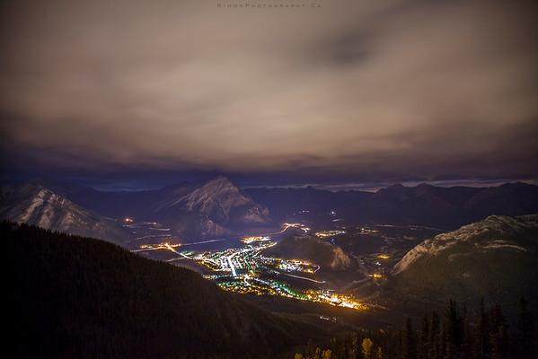 Banff from Sulphur at night