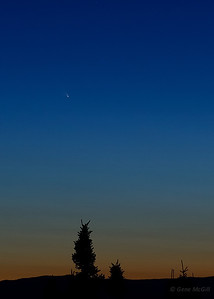 Comet Pan-STARRS from the Old Nenana Highway, near Fairbanks, Alaska.  March 16, 2013.