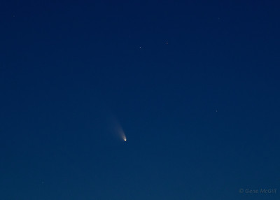 Comet Pan-STARRS on March 16, 2013, from near Fairbanks, Alaska.