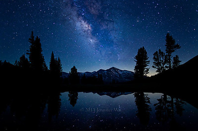 Stars Reflecting in Pond Yosemite National Park, California 20100716_Yosemite_286