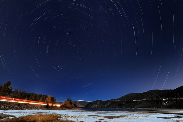 North Startrails in Breck, stacked then nx