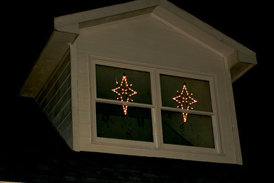 My Star of Bethlehem lights. I know they need to come down, I just love them!