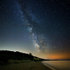 Milky Way over the Lake Michigan shoreline