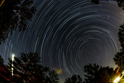 Meteor, Fireflies, and Startrails
