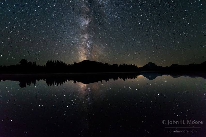 The Milky Way over an oxbow bend in the Snake River in Grand Teton National Park, Wyoming