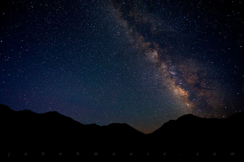 Milky Way south of the Racetrack at Death Valley, just as the sky began to lighten.