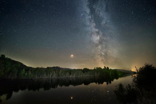 Blue Lake Milky Way