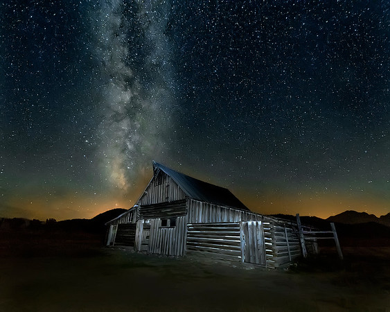 Moulton Barn at Grand Teton National Park with Milky Way